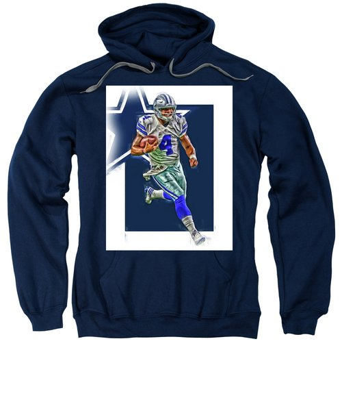 Dak Prescott Dallas Cowboys Oil Art Series 3 Sweatshirt