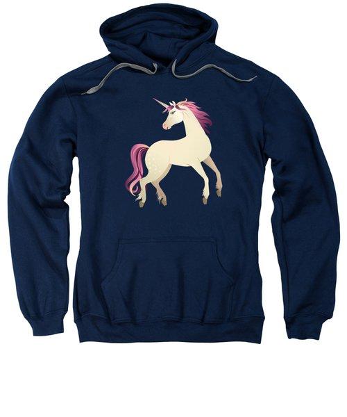 Dancing Unicorns In The Garden Fantasy Tapestry Pattern Sweatshirt