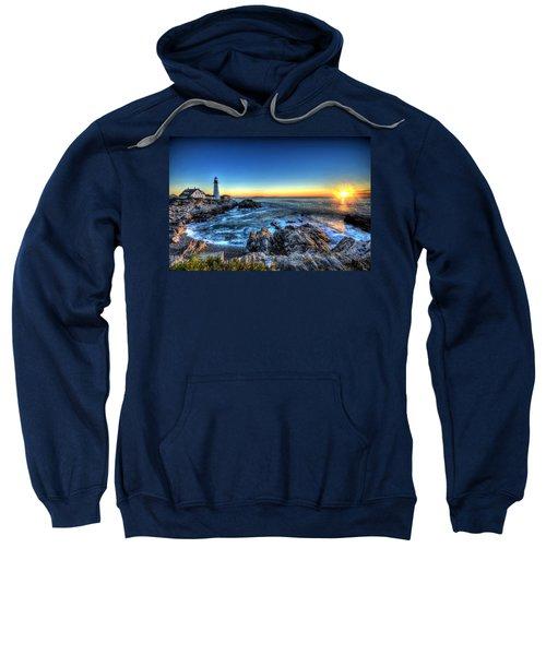 Dawn At Portland Head Lighthouse Sweatshirt