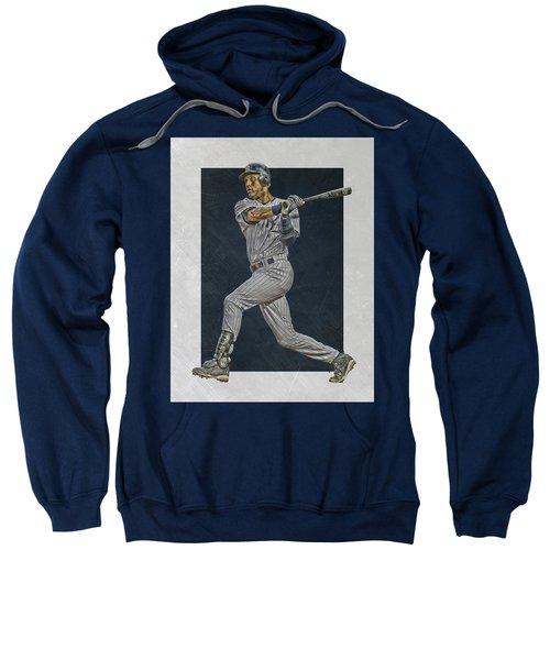 Derek Jeter New York Yankees Art 2 Sweatshirt by Joe Hamilton
