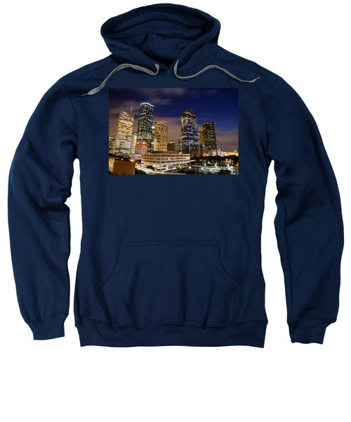 Downtown Houston At Night Sweatshirt