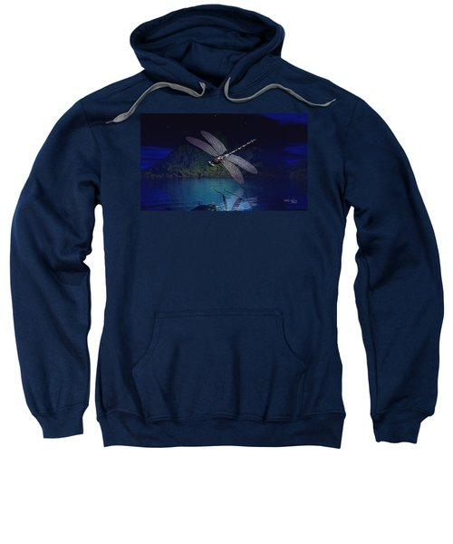 Dragonfly Night Reflections Sweatshirt