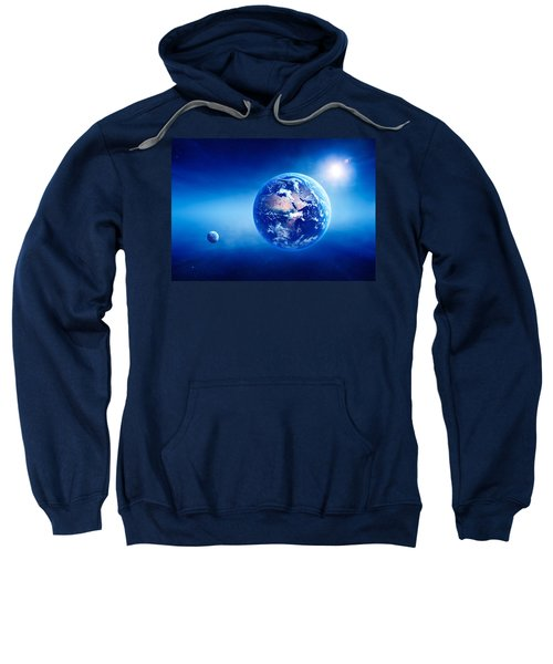 Earth Sunrise Deep Space Sweatshirt