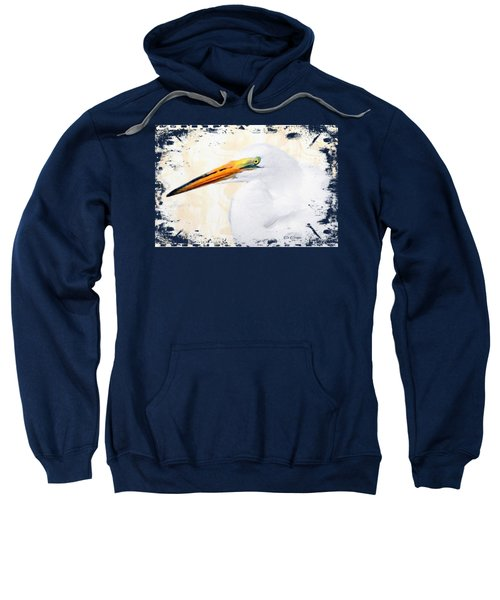 Egret Thoughts Signature Series Sweatshirt by Di Designs