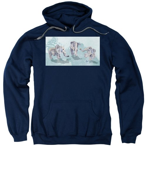 Elephants In Blue Sweatshirt