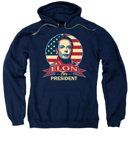 Elon For President American Banner Pop Art Sweatshirt