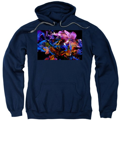Sweatshirt featuring the painting Evening In Springtime by Hanne Lore Koehler