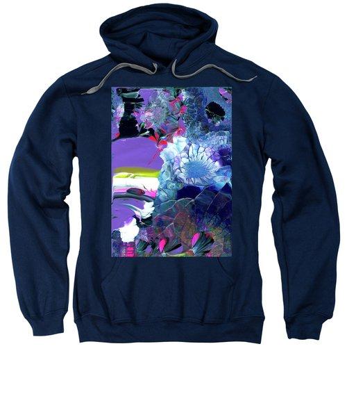 Exotic White Rose Island Sweatshirt