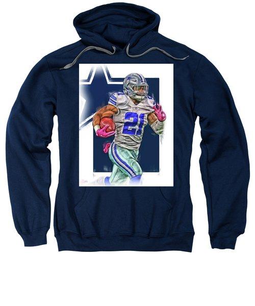 Ezekiel Elliotte Dallas Cowboys Oil Art Sweatshirt
