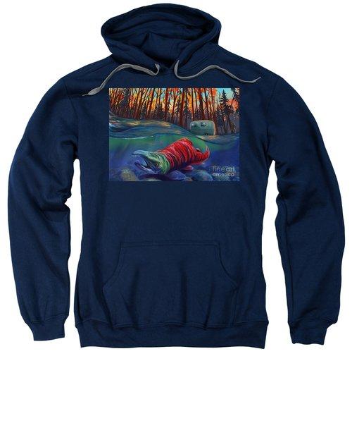 Fall Salmon Fishing Sweatshirt