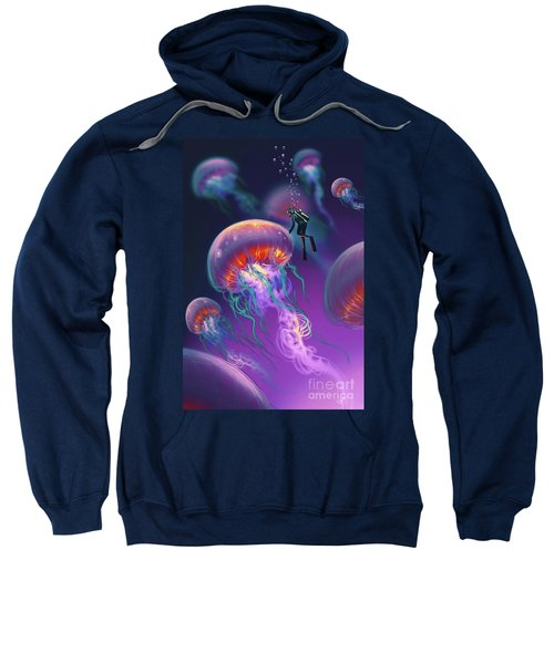 Sweatshirt featuring the painting Fantasy Underworld by Tithi Luadthong