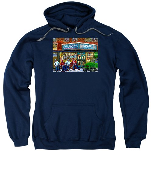 Fiddler On The Roof Painting Canadian Art Jewish Montreal Memories Rodal Gift Shop Van Horne Hockey  Sweatshirt