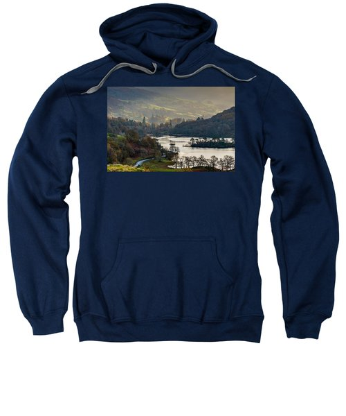 First Light Over Rydal Water In The Lake District Sweatshirt