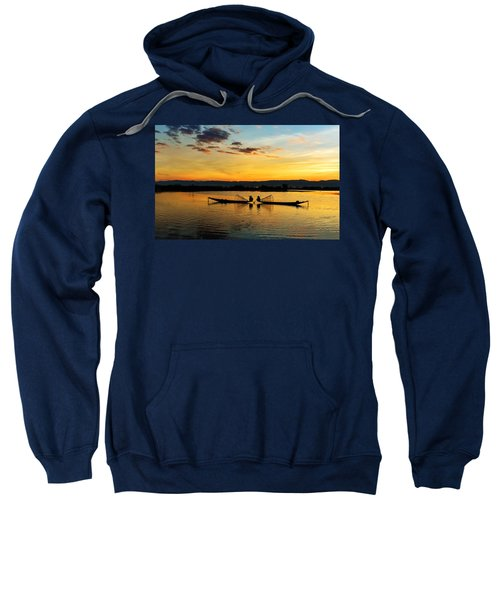 Fisherman On Their Boat Sweatshirt
