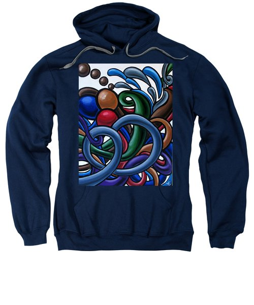Colorful Abstract Art Painting Chromatic Water Artwork Sweatshirt