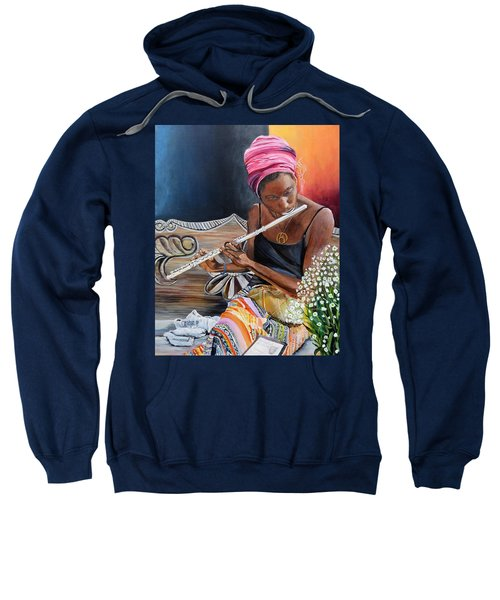 Flute Player Sweatshirt