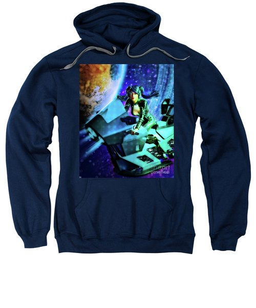 Flying Through Galaxies Sweatshirt