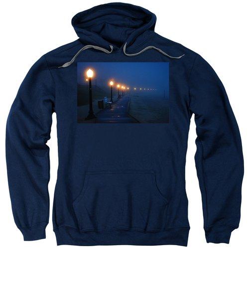Foggy Boardwalk Blues Sweatshirt by Bill Pevlor