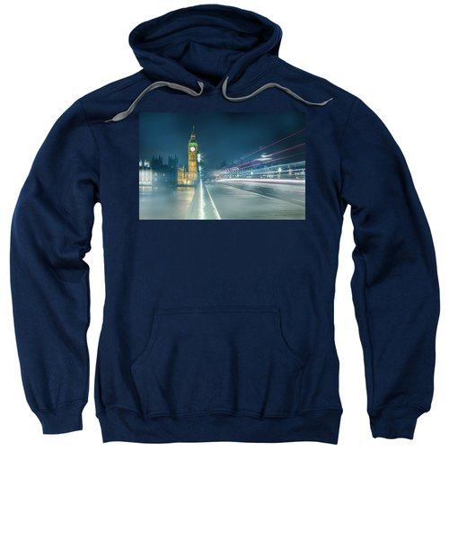 Foggy Mist Covered Westminster Bridge Sweatshirt
