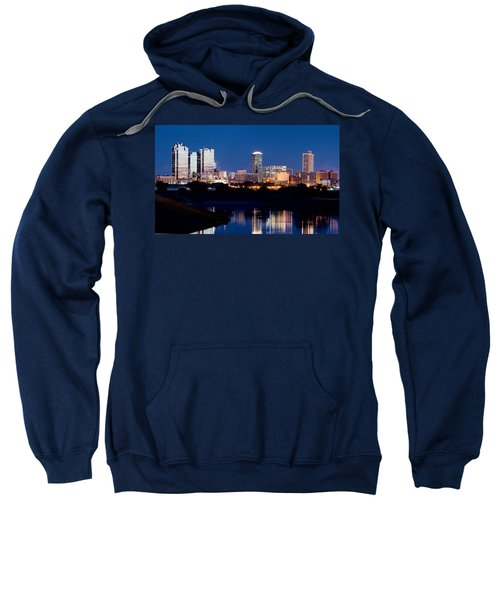 Fort Worth Skyline At Night Poster Sweatshirt