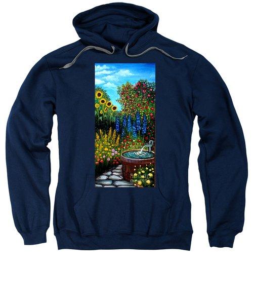 Fountain Of Flowers Sweatshirt