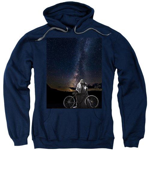 Ghost Rider Under The Milky Way. Sweatshirt
