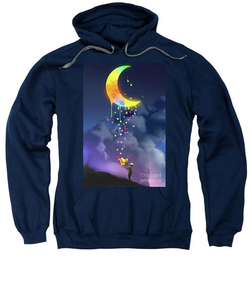 Sweatshirt featuring the painting Gifts From The Moon by Tithi Luadthong