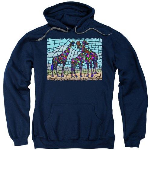 Giraffe Maze Sweatshirt by Anthony Mwangi