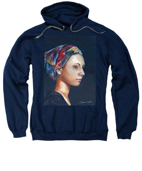 Girl With Headscarf Sweatshirt