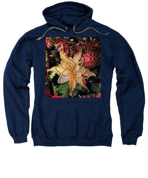 Golden Glitter Christmas Ornaments Sweatshirt