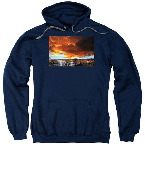 Golden Sunset With Filigree Trees Sweatshirt