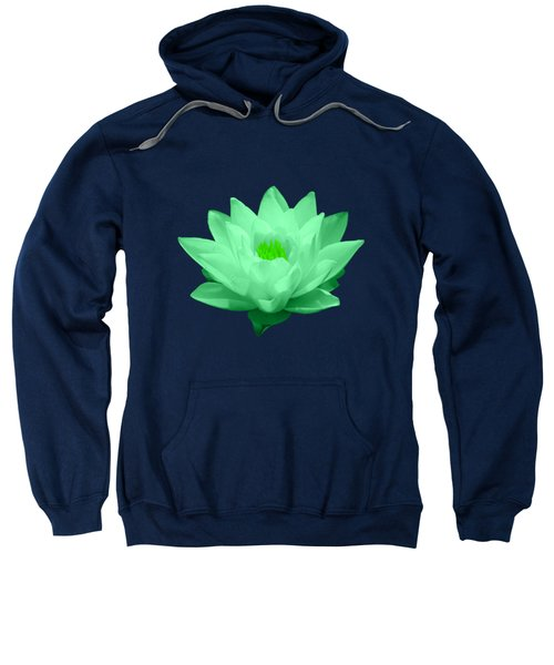 Green Lily Blossom Sweatshirt by Shane Bechler