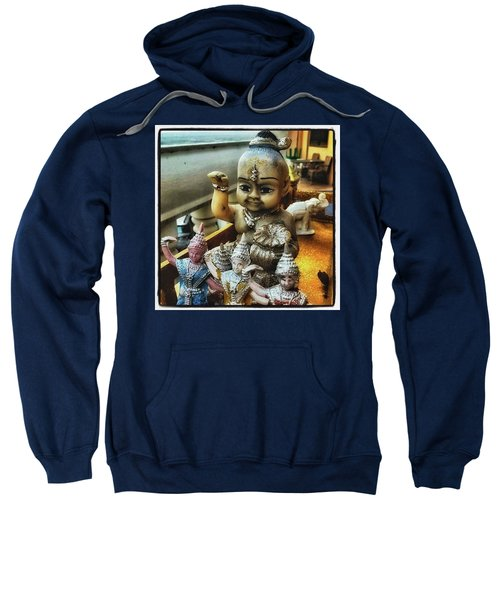 Sweatshirt featuring the photograph Greetings From Thailand. These Jolly by Mr Photojimsf