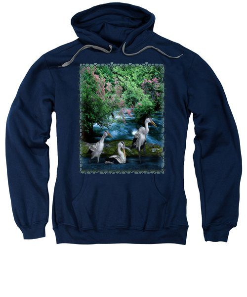Grey Heron Point Sweatshirt by Sharon and Renee Lozen