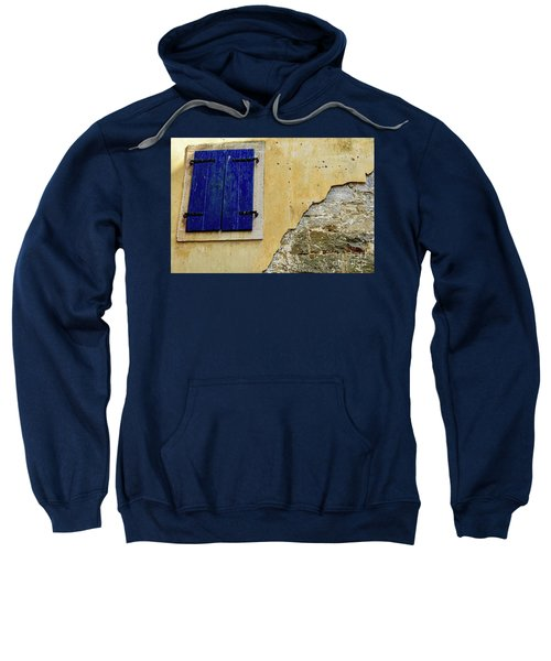 Groznjan Istrian Hill Town Stonework And Blue Shutters  - Istria, Croatia Sweatshirt