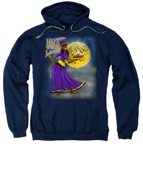 Happy New Moon Sirach 43 Sweatshirt