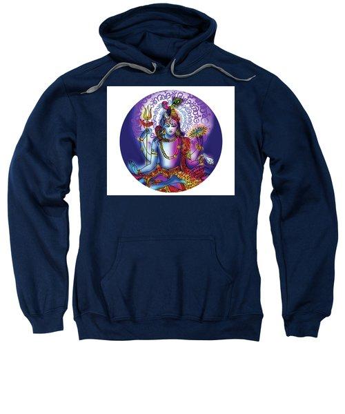 Sweatshirt featuring the painting Hari Hara Krishna Vishnu by Guruji Aruneshvar Paris Art Curator Katrin Suter