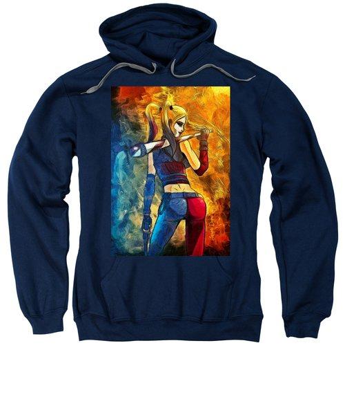 Harley Quinn Spicy  - Van Gogh Style -  - Da Sweatshirt