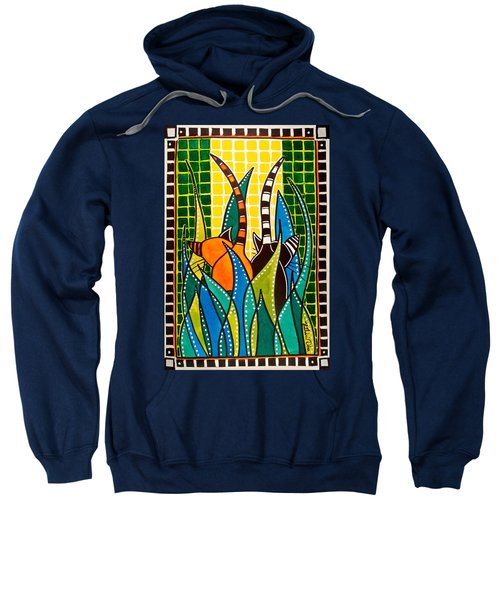 Hide And Seek - Cat Art By Dora Hathazi Mendes Sweatshirt