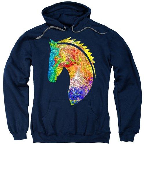 Horse Colorful Silhouette Sweatshirt