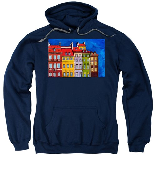 Houses In The Oldtown Of Warsaw Sweatshirt