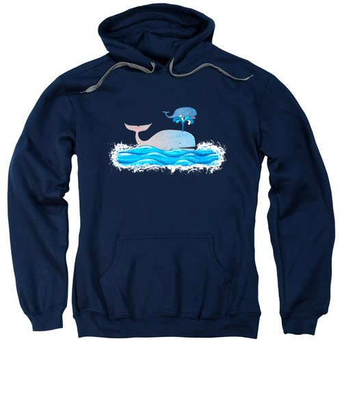 How Whales Have Fun Sweatshirt by Shawna Rowe