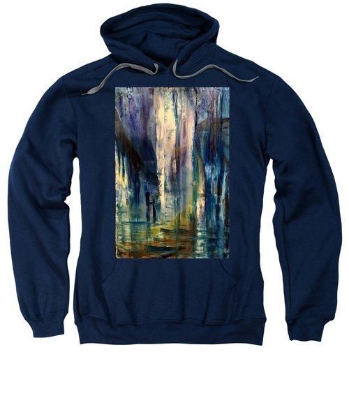 Icy Cavern Abstract Sweatshirt
