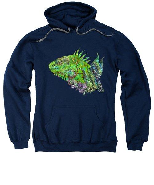Iguana Cool Sweatshirt by Carol Cavalaris