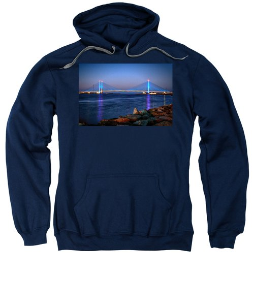 Indian River Inlet Bridge Twilight Sweatshirt