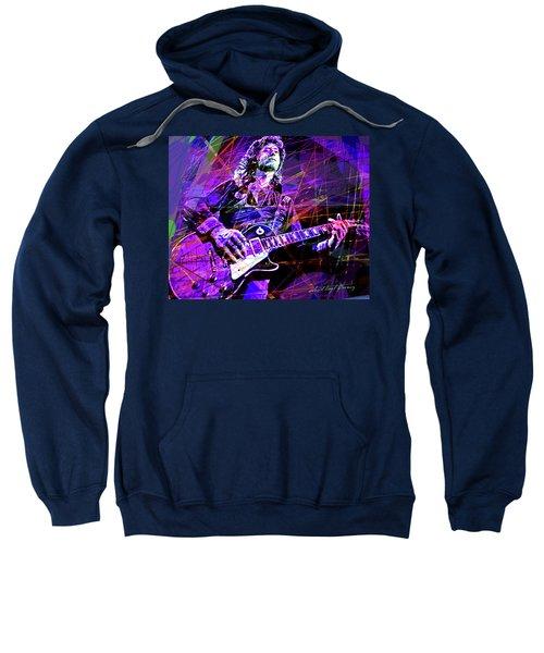 Jimmy Page Solos Sweatshirt by David Lloyd Glover