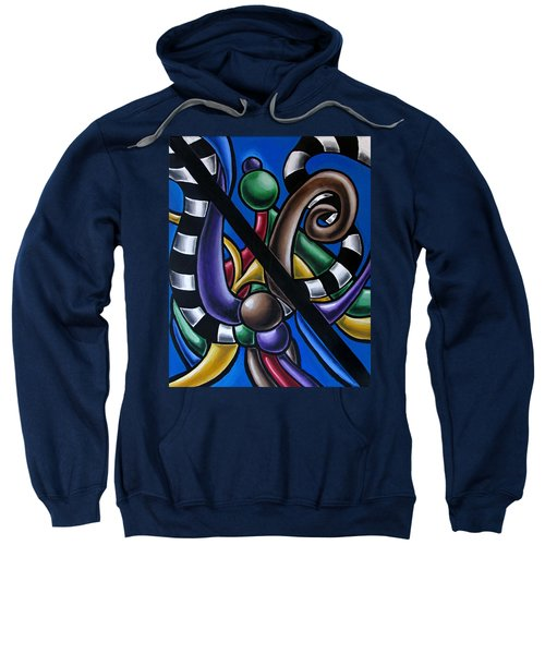 Original Colorful Abstract Art Painting - Multicolored Chromatic Artwork Sweatshirt