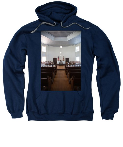 Jury Box In A Courthouse, Old Sweatshirt