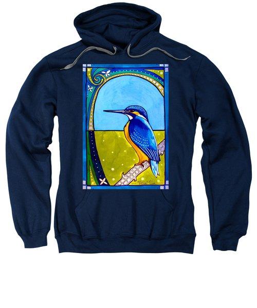 Kingfisher Sweatshirt by Dora Hathazi Mendes