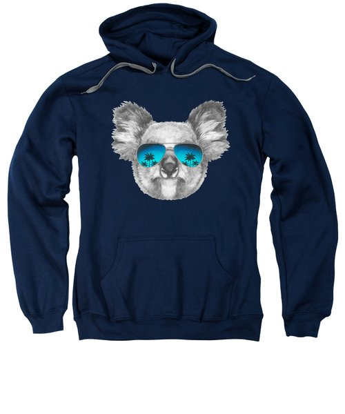 Koala With Mirror Sunglasses Sweatshirt by Marco Sousa